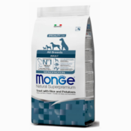 Monge Dog MONOPROTEIN Speciality line All Breeds Adult pisztráng-rizs 2,5kg, 12kg, 15kg