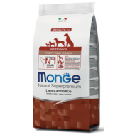 Monge Dog MONOPROTEIN Speciality line All Breeds Puppy&Junior bárány-rizs 2,5kg, 12kg, 15kg