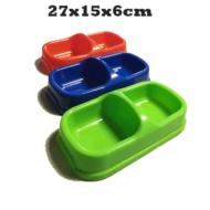 483,27 Műanyag dupla kutya és macska tál 2x0,35l