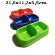 483,29 Műanyag dupla kutya és macska tál 2x0,15l
